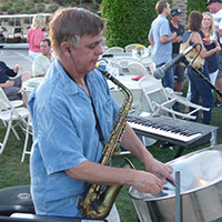 photo of steel drum player