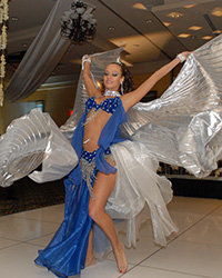female Belly Dancer with wings