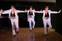 three female tap dancers
