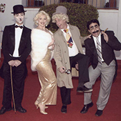 Charlie Chaplin, Marilyn, Harpo, Groucho Look-a-Likes
