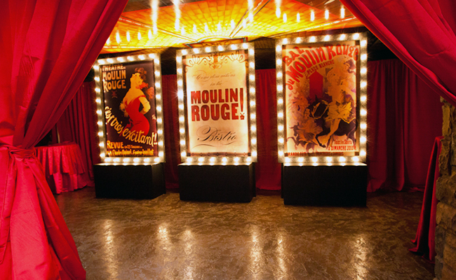 decor for Moulin Rouge show