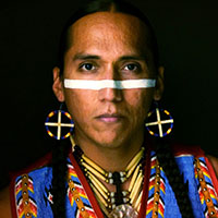 picture of a Native American flutist