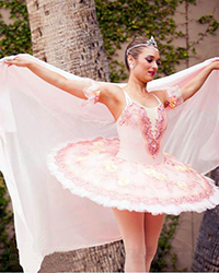Classical ballerina in pink