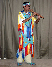 costumed Native American Flutist