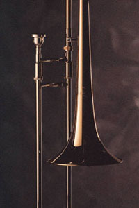 closeup of trombone