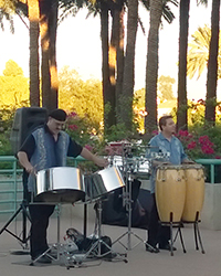 photo of steel drum players