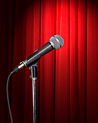 open microphone for headline comedian