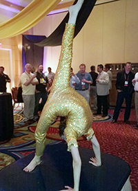 Contortionist performing at event