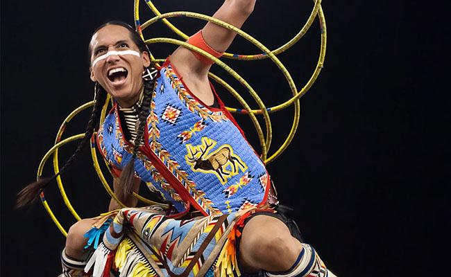photo of hoop dancer