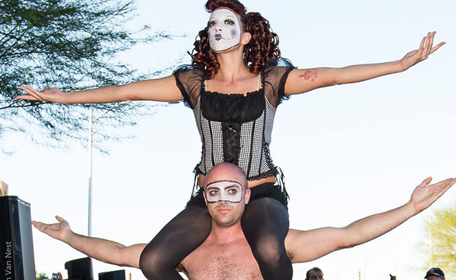 Photo of acrobatic strength duo