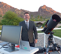 photo of astronomer for star parties