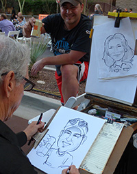 photo of caricature artist