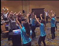 photo of corporate flash mob
