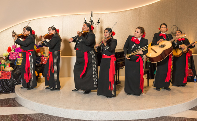 photo of female mariachi band