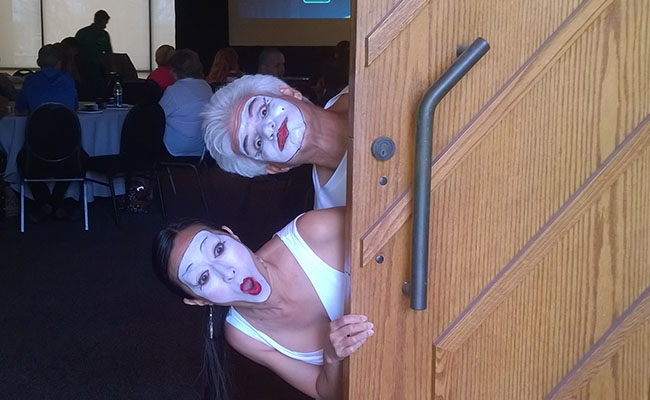 Photo of mime for corporate events