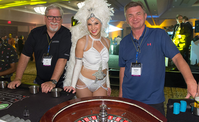photo of showgirl at corporate casino