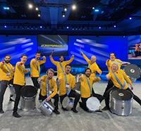 photo of corporate drum line