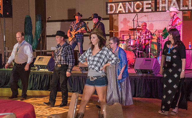 picture of line dance instructor teaching