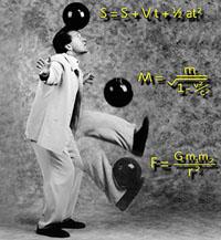male juggling bowling balls