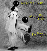 juggler juggling three bowling balls