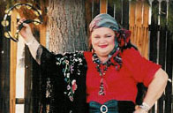 fortune teller in gypsy costume