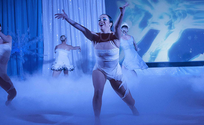 photo of dancer in Frozen stage presentation