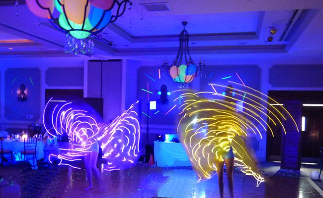photo of LED dancers