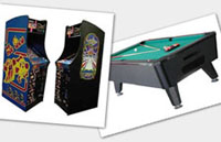 arcade party games, pool table