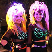 girls in LED costumes