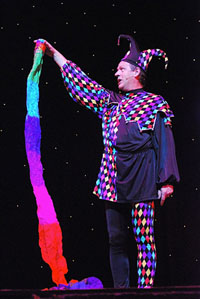 costumed court jester Magician