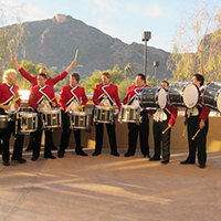 large traditional drum line