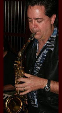 male saxophonist