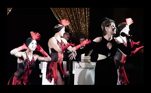 singer and dancers performing Minnie the Moocher