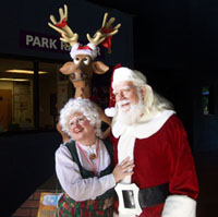 costumed Santa and Mrs. Claus