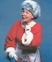 costumed Mrs. Claus