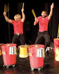 percusion drum line trio