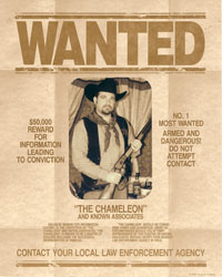 wanted poster showing cowboy with rifle