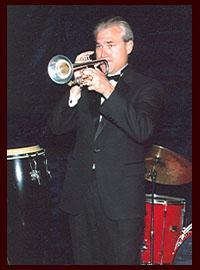 male trumpeter in tuxedo