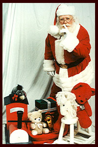 Santa Claus with toys
