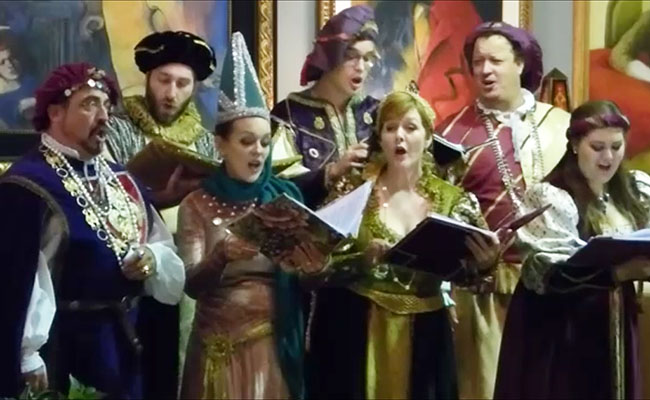 photo of Renaissance holiday singers