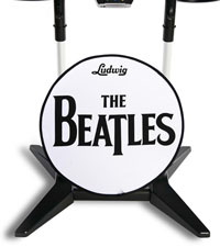 ludwig drum head with Beatles imprint