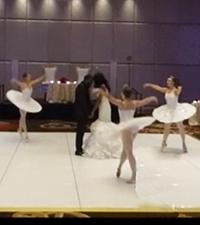 Photo of ballerinas at a wedding reception